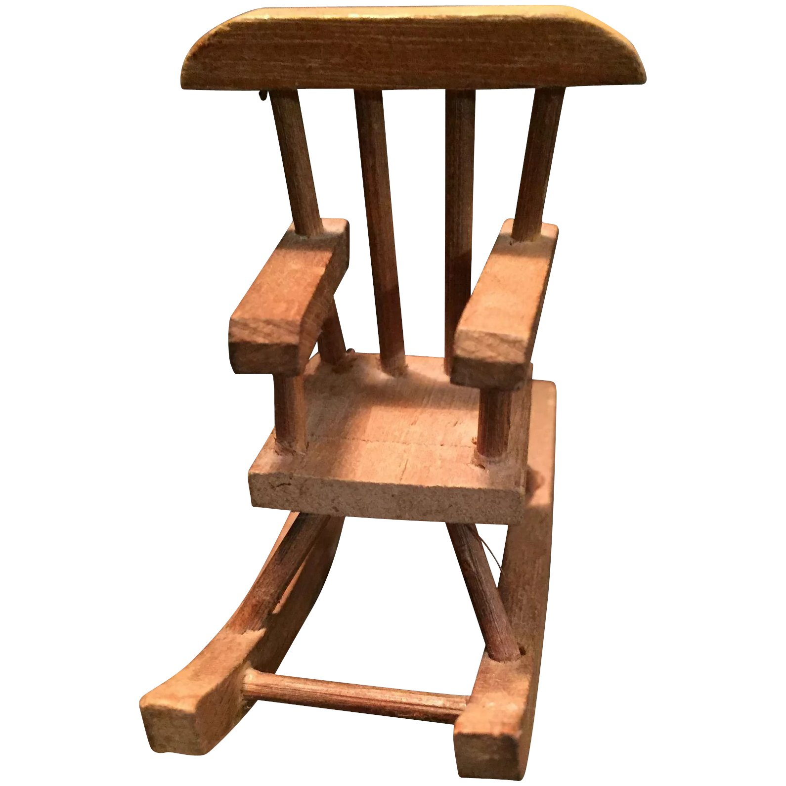 Wondrous Sweet Vintage Doll House Wooden Rocking Chair Ncnpc Chair Design For Home Ncnpcorg