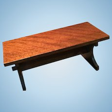 Sweet Vintage  Doll House Wooden Trestle Table