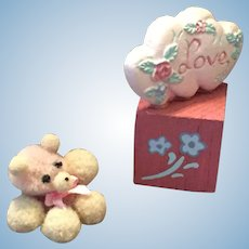 Two Piece Miniature 'Love' Bear Grouping