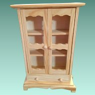 """Vintage 'Paint It'  4"""" Two Door Library Cabinet"""