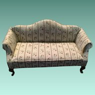 Sweet Vintage Queen Anne Upholstered Sofa
