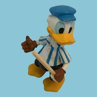 "Vintage 5"" Vinyl Donald Duck Jointed Baseball Player"