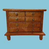 1950s - 60s Pecan-colored Low-Boy Miniature Dollhouse Dresser