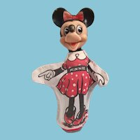 Marvelous Vintage Walt Disney Minnie Mouse Hand Puppet.