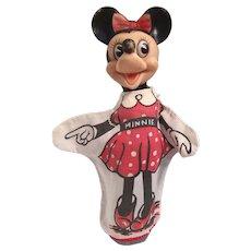 Marvelous Vintage Walt Disney Minnie Mouse Hand Puppet.