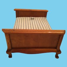 Circa 1950s - 60s Wooden Doll House Matrimonial Bed