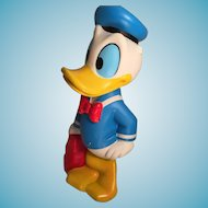 Vintage Squeaky Vinyl Donald Duck with Suitcase