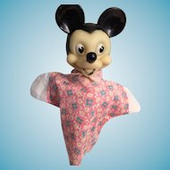Vintage Walt Disney's Mickey Mouse Hand Puppet
