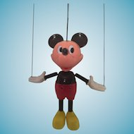 Early Disney Dancing Mickey Mouse String Puppet