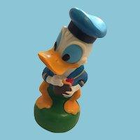 Vintage Vinyl Donald Duck bank Marked 'Walt Disney Productions