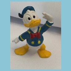 """Vintage 5 1/2"""" Vinyl Donald Duck Squeaky Toy Marked 'Walt Disney Productions"""