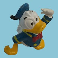 "Vintage 2 1/4"" Posed Donald Duck Toy Marked 'Walt Disney Productions'"