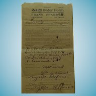 August 21, 1919 Original Bill of Sale for a Chevrolet