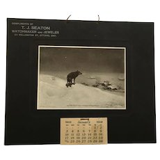 1909 Calendar 'The Scout' in Unused Protected Condition
