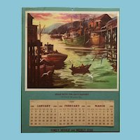'Mint' 1956 Calendar signed by Georges Menendez Rae