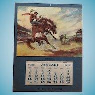 Mint' 1955 Bucking Horse Rodeo Calendar by Georges Menendez Rae