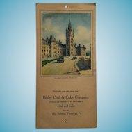 circa 1920s -30s Bixler Coal & Coke Company Calendar