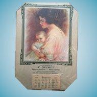 'Motherhood' 1931 Calendar signed by Haskell Coffi