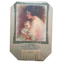 'Motherhood' 1931 Calendar signed by Haskell Coffi