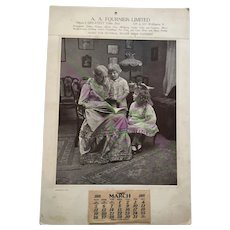 Grandma's Pets'' Large 1916 Calendar