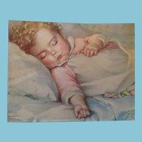 Circa 1930s 'Just a Little Dream' Lithograph Print by Annie Benson Muller