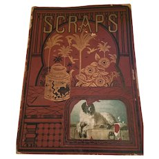 Very Old Scrapbook Cover for Your Ephemeral Collection