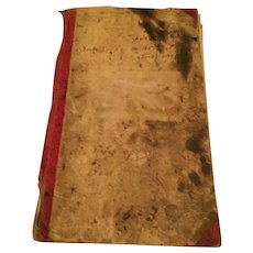 1873 Post Office Ledger Used as an 1800s  Fashion Scrapbook