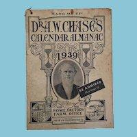 Dr A W Chase 1939 'Hang Me Up' Calendar Almanac