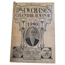 Dr A W Chase 1946 Calendar Almanac