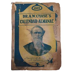 Dr A W Chase 1909 Calendar Almanac