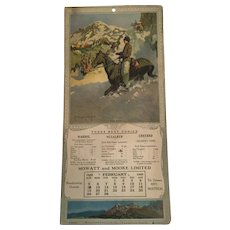 "Artist Signed ""A Bad Skid'' 1922 Calendar"