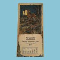 The Midnight Marauder'' 1923 Calendar in the American Game Series