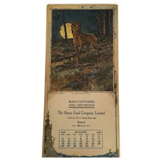 The Midnight Marauder'' 1923 Calendar in the American Game Series