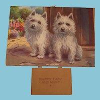 1941 'Two of a Kind' Westie Dog Calendar