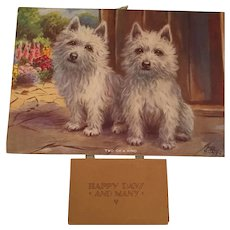 1941 'Two of a Kind' Westie Dog Calendar