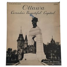 1941 'Ottawa - Canada's Beautiful Capital' Multi-Page Calendar