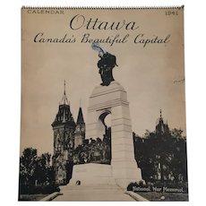 1941 'Ottawa - Canada's Beautiful Capital' Multi-Page Calendar