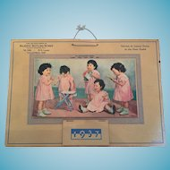 1937 Advertising Calendar of the Dionne Quintuplets
