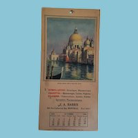 """""""Santa Maria Della Salute, Venice'' 1924 Calendar"""