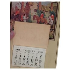1937 'Twelve Months of Happiness' Fox Hunt Calendar