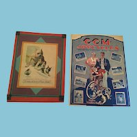 Circa 1930s Two Full-Color C.C.M and Dog Prints