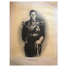 Circa 1930s Royalty Print of H.M. King Edward Before Abdication
