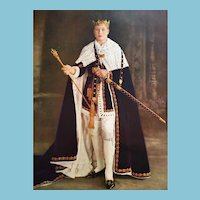 Royalty Print of Investiture Edward the VIII as Prince of Wales in 1911