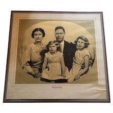 Royalty print of H.M. of King George VI and His Family