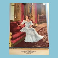 Unused 1944 Colonial Furniture Royalty Calendar