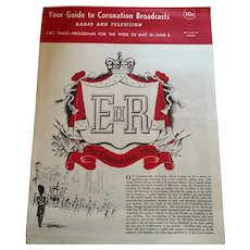 1953 CBC 'Your Guide to the Coronation' of HRH Queen Elizabeth II