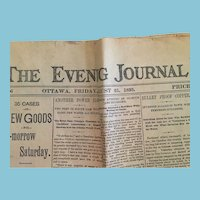 Friday, August 25, 1893, Ottawa Evening Journal newspaper