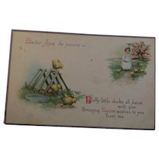 Circa 1910 Sweet Easter Chick Postcard