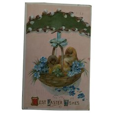 Circa 1911 Sweet Easter Postcard with an Iinteresting US One Penny Stamp