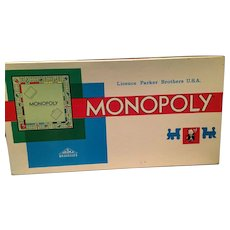 Delightful 1961 French 'Monopoly' Board Game Licenced by Parker Brothers USA